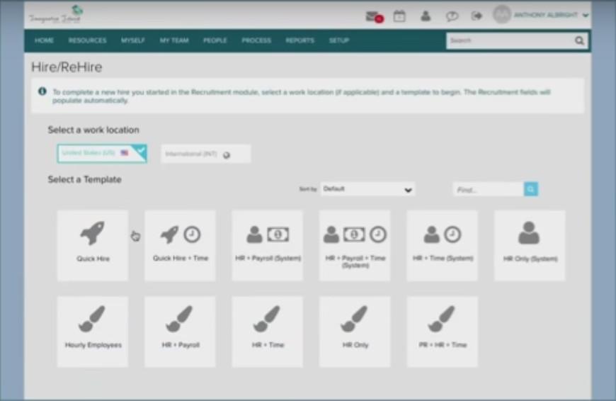 ADP Workforce Now HR Dashboard