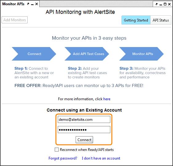 AlertSite API Monitor