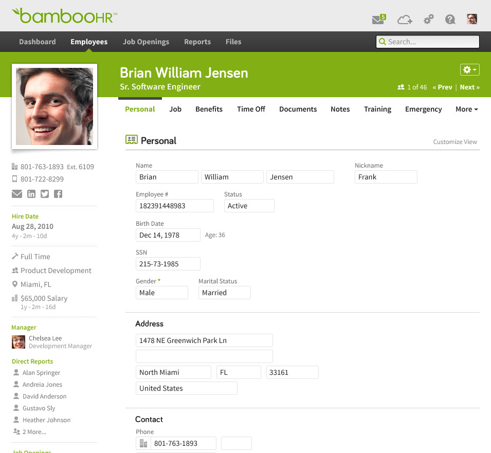 BambooHR Dashboard