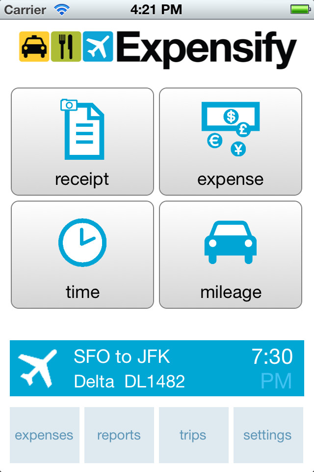 Expensify App Dashboard