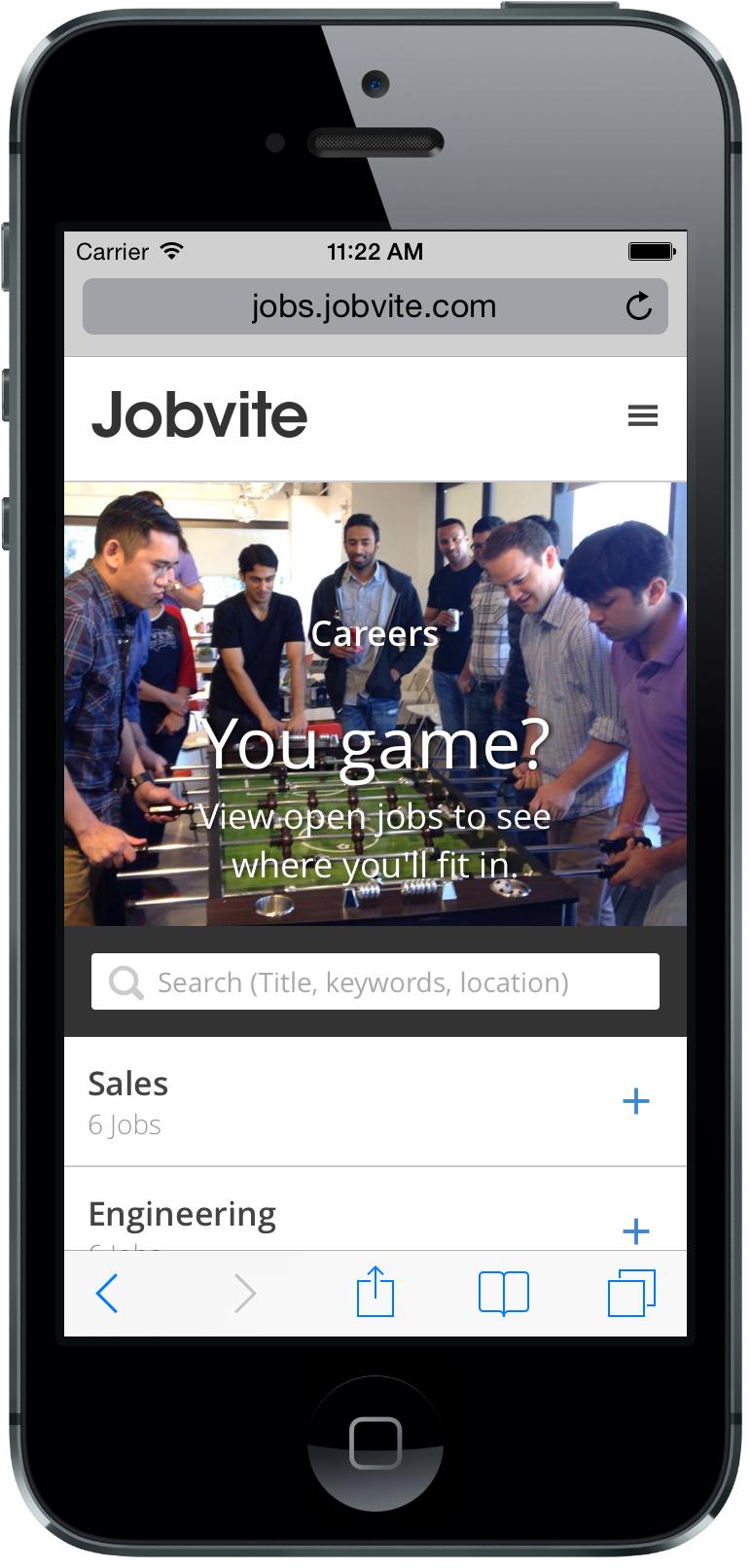 Jobvite Mobile Career Sites