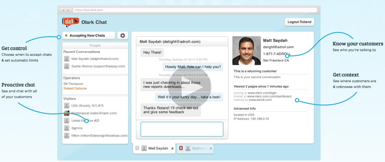 Olark's Live Chat service