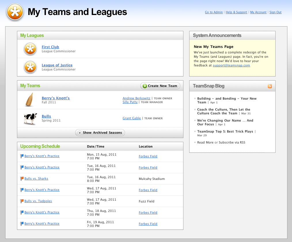 TeamSnap Leagues & Clubs
