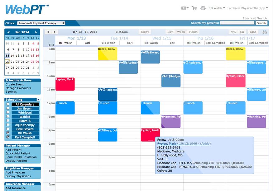 WebPT Scheduling