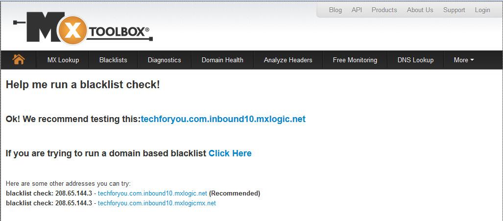 MxToolbox Blacklists