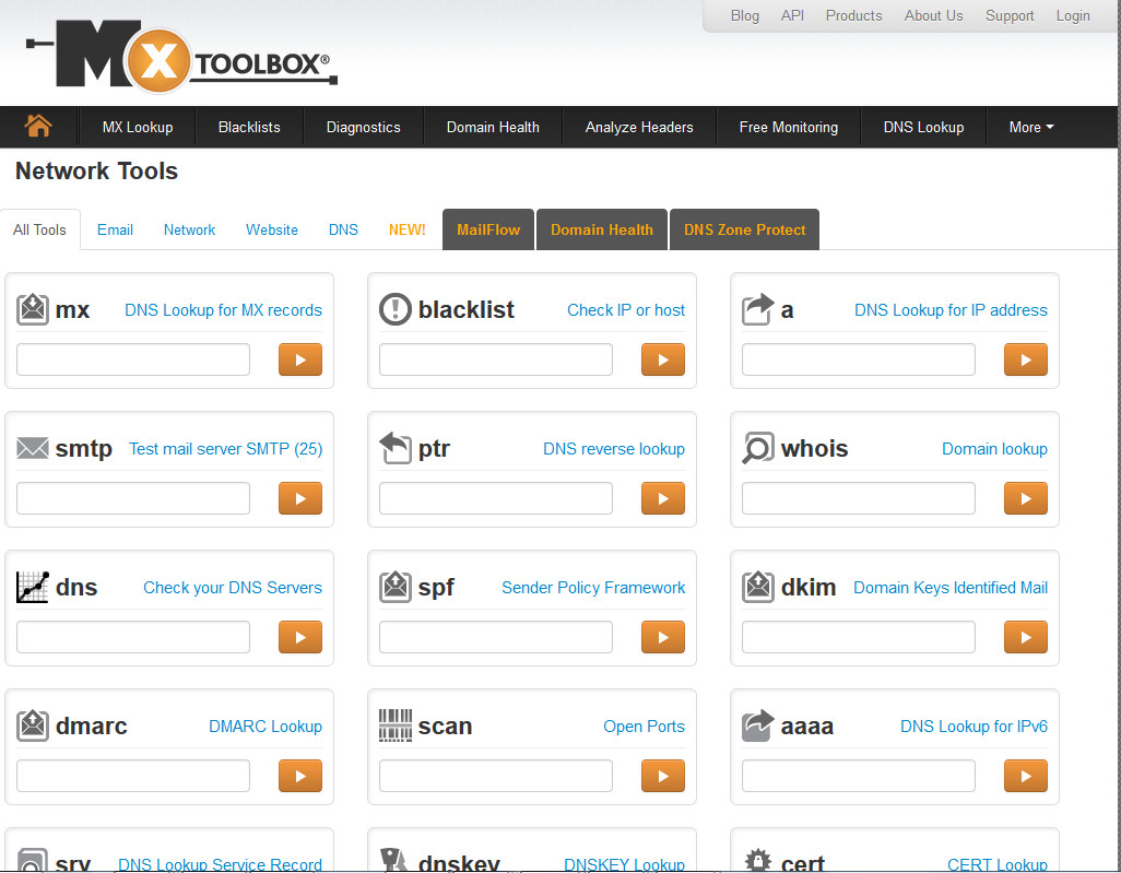 MxToolbox More Page
