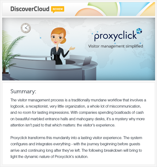 Review of proxyclick app by discovercloud.com