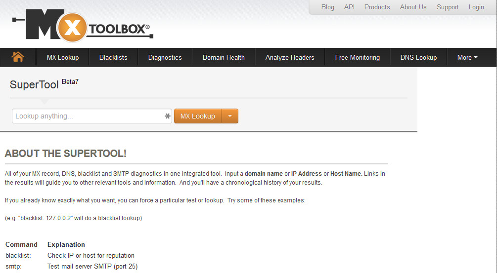 MxToolbox SuperTool
